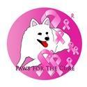 American Eskimo Dog Pink Ribbon