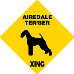 Airedale Terrier Crossing Sign
