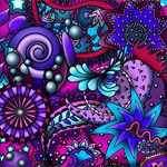 Blue and Purple Paisley