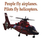 Pilots fly helis