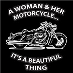A Woman And Her Motorcycle...It's A Beautiful Thin