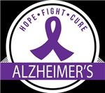 ALZHEIMERS HOPE FIGHT CURE T-shirts