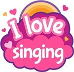 I Love Singing music t-shirts