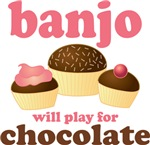Chocolate Banjo Player T-shirts And Gifts