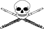 Flute Skull T-shirts and Gifts