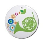 FRENCH HORN ORNAMENTS | HORN CHRISTMAS ORNAMENTS