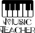 Music Teacher Keyboard Logo Gifts