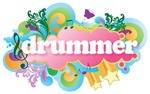 Retro Burst Drummer T-shirts and Gift