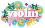 Retro Violin Music Gifts and Tees