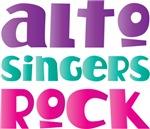 Cute Alto Singers Rock Music T-shirts