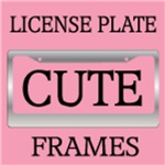 CUTE LICENSE PLATE FRAME HOLDERS