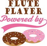 FLUTE PLAYER POWERED BY DONUTS T-shirts