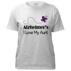 ALZHEIMER'S AWARENESS BUTTERFLY T-SHIRTS