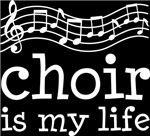 Choir is My Life Music Staff Gifts and Shirts