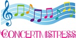 Colorful Concertmistress Music T-shirt Gifts
