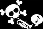 Trumpet Skull Music T-shirts