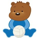 Volleyball Bear Kids Tee Shirts
