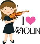 Girls I Heart Violin Tshirt Gifts
