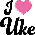 I Heart Uke Music Ukulele T-shirts