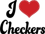 I Heart Checkers T-shirts and Gifts