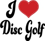 I Heart Disc Golf T-shirts and Gifts