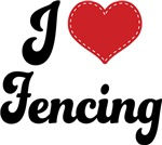 I Heart Fencing T-shirts and Gifts
