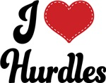 I Heart Hurdles T-shirts and Gifts