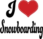 I Heart Snowboarding T-shirts and Gifts