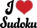 I Heart Sudoku T-shirts and Gifts