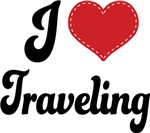 I Heart Traveling T-shirts and Gifts