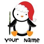 Personalized Christmas Flute Penguin Shirts