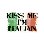 Kiss Me I'm Italian Flag