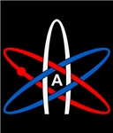 Atheist Symbol Red White and Blue