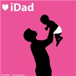 iDad Pink Father and Baby