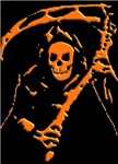 Orange Grim Reaper Gifts & T-Shirts.