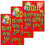 40th, 50th & 60th Birthday Cards & Invitations.