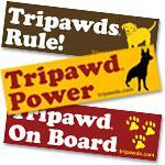 Tripawds Bumper Stickers