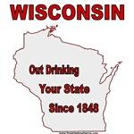 Wisconsin since 1848 Tshirts