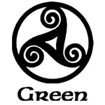Green Celtic Knot