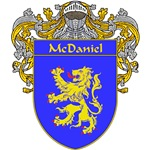 McDaniel Coat of Arms (Mantled)