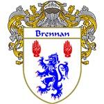Brennan Coat of Arms (Mantled)