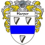 Harper Coat of Arms (Mantled)