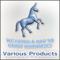 We found a map to Candy Mountain!!  Blue unicorn!