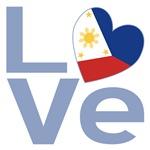 Filipino Flag Light Blue LOVE