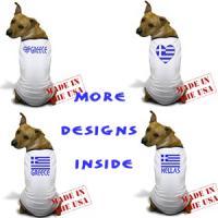 Greek Flag Dog T-shirts