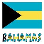 Bahamas Flag and Word or Name