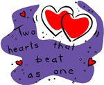 Two Hearts Beat as One T-shirts & Gifts
