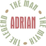 Adrian the Man the Myth the Legend T-shirts Gifts