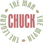 Chuck the man the myth the legend T-shirts Gifts