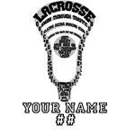 Lacrosse Head Attack Personalizable